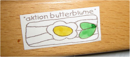 Aktion Butterblume . Sticker . 1997