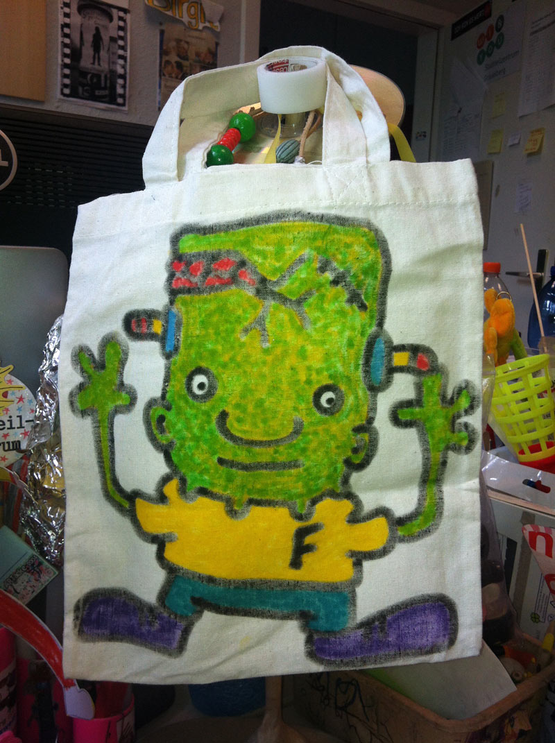 bag little frankenstein monster . 2014.04